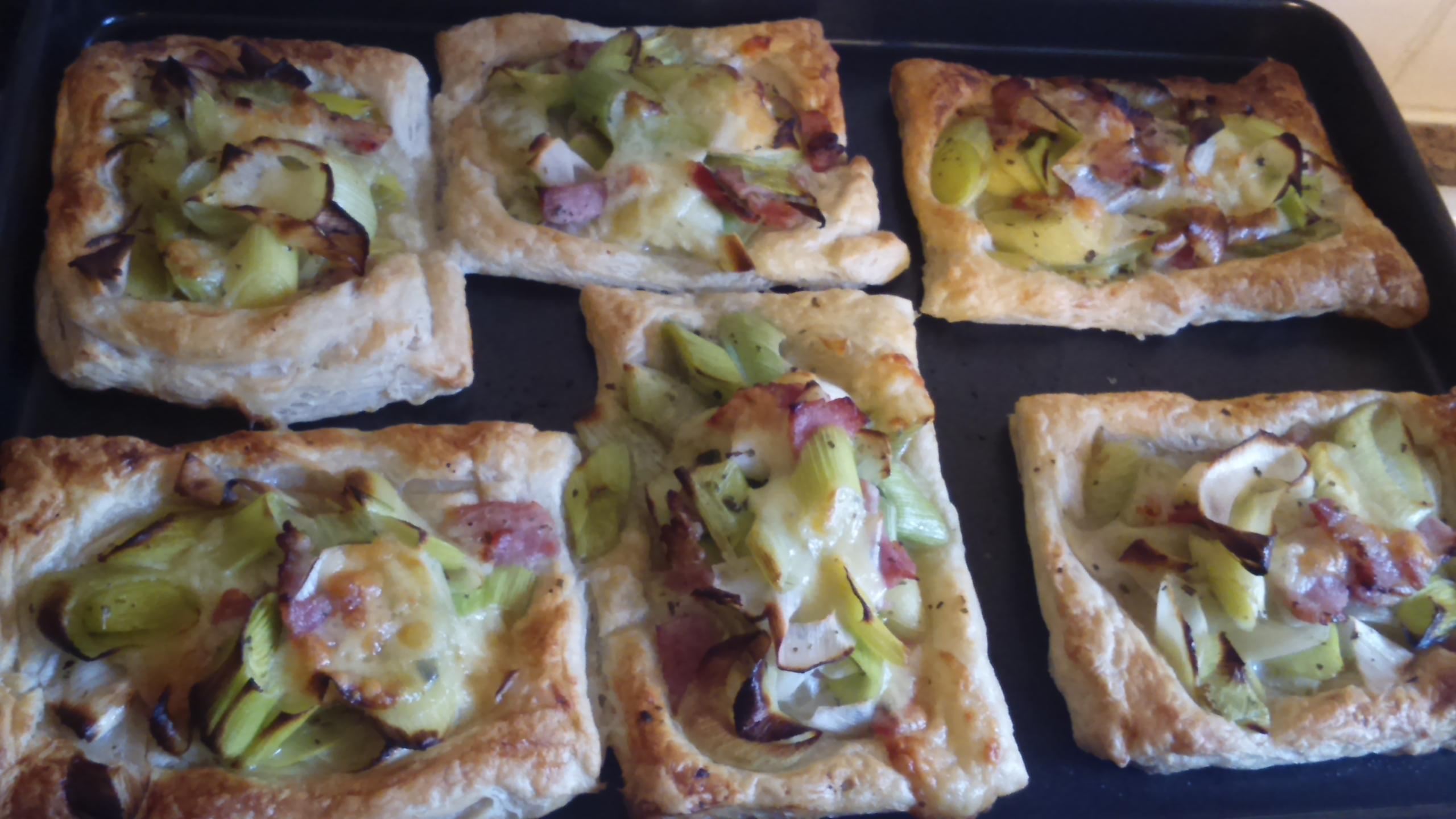 Recipe: Cheesy Leek and Bacon Tartlets